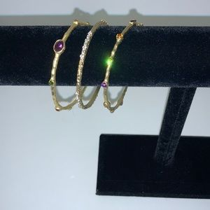 Gemstone Rock Candy Bangles